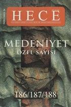 Hece Aylık Edebiyat Dergisi Medeniyet Özel Sayısı :24 - 186/187/188 (Ciltsiz)