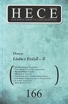 Hece Aylık Edebiyat Dergisi Sayı: 166