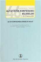 46. Uluslararası Sürekli Altayistik Konferansı Bildirileri 22-27 Haziran 2003