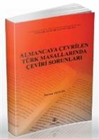 Almancaya Çevrilen Türk Masallarında Çeviri Sorunları