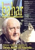 Berfin Bahar Aylık Kültür, Sanat ve Edebiyat Dergisi Sayı : 122
