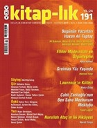 Kitap-lık Sayı: 191 İki Aylık Edebiyat Dergisi Mayıs - Haziran 2017