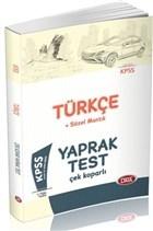 KPSS Türkçe Sözel Mantık  Yaprak Test Çek Koparlı