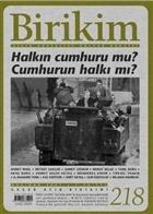 Birikim Aylık Sosyalist Kültür Dergisi Sayı: 218