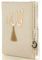 İnci Tesbih Hediyeli Kur'an'ı Kerim (Krem)