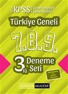 2019 KPSS Genel Yetenek Genel Kültür Türkiye Geneli Deneme (7.8.9) 3'lü Deneme Set