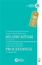 1. Uluslararası Tasavvuf Araştırmaları Lisansüstü Öğrenci Sempozyumu Bildiri Kitabı