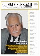 Halk Edebiyatı Dergisi Sayı: 2 Eylül-Ekim 2014