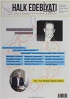 Halk Edebiyatı Dergisi Sayı: 12 Mayıs-Haziran 2016