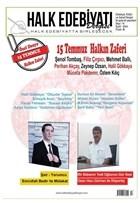 Halk Edebiyatı Dergisi Sayı: 14 Eylül-Ekim