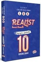 8. Sınıf LGS Realist Beceri Temelli Tamamı Çözümlü 10 Deneme Sınavı