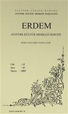 Erdem Atatürk Kültür Merkezi Dergisi Sayı : 43 Mayıs 2005 (Cilt 15)