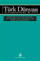 Türk Dünyası Dil ve Edebiyat Dergisi: Güz 2018/ 46. Sayı 2018