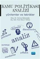 Kamu Politikası Analizi Yöntemler ve Teknikler