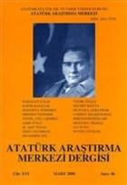 Atatürk Araştırma Merkezi Dergisi Cilt: 16 Mart: 2000 Sayı: 46