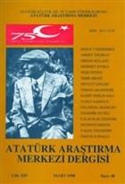 Atatürk Araştırma Merkezi Dergisi Cilt: 14 Mart 1998 Sayı: 40