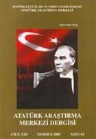Atatürk Araştırma Merkezi Dergisi: Cilt: 21 Temmuz 2005 Sayı: 62