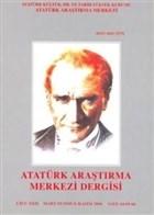 Atatürk Araştırma Merkezi Dergisi Cilt: 22 Mart-Temmuz-Kasım 2006 Sayı: 64-65-66