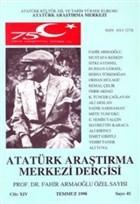 Atatürk Araştırma Merkezi Dergisi Cilt: 14  Temmuz 1998 Sayı: 41