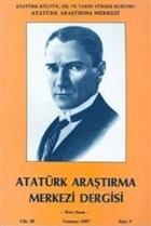 Atatürk Araştırma Merkezi Dergisi Cilt: 3 Temmuz 1987 Sayı: 9