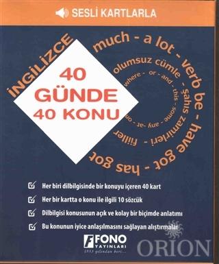 40 Günde 40 İngilizce Konu - Sesli Kartlarla