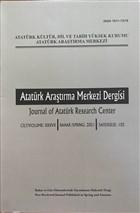 Atatürk Araştırma Merkezi Dergisi Sayı: 103 2021
