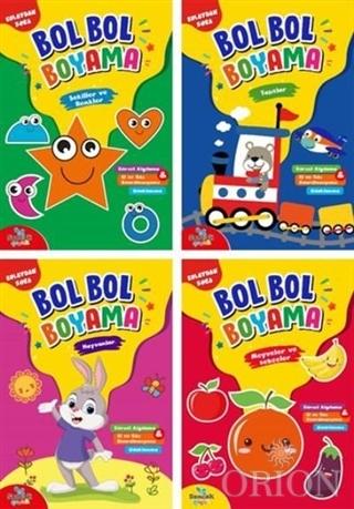 Bol Bol Boyama Seti - 4 Kitap Takım