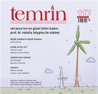 Temrin Aylık Düşünce ve Edebiyat Dergisi Sayı: 117 Temmuz 2021