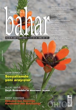 Berfin Bahar Aylık Kültür Sanat ve Edebiyat Dergisi Sayı: 281 Temmuz 2021