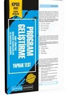 2022 KPSS Eğitim Bilimleri Program Geliştirme Yaprak Test