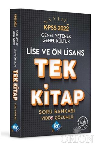 2022 KPSS Lise Ön Lisans Genel Yetenek Genel Kültür Tek Kitap Soru Bankası