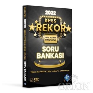 2022 KPSS Genel Yetenek Genel Kültür Tüm Dersler Rekor Soru Bankası