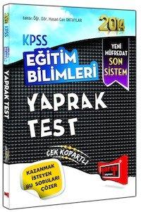 KPSS Eğitim Bilimleri Yaprak Test-2014