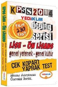 KPSS Lise - Ön Lisans Çek Kopart Yaprak Test 2014