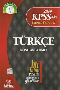 KPSS Türkçe Konu Anlatımlı 2014