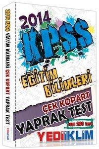 KPSS Eğitim Bilimleri Çek Kopart Yaprak Test -2014
