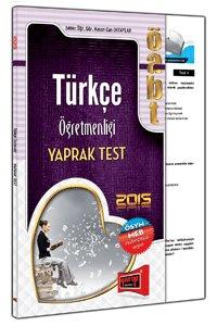ÖABT Türkçe Öğretmenliği Yaprak Test - 2015