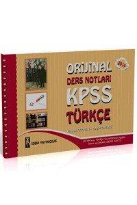 KPSS Orjinal Türkçe Ders Notları 2014