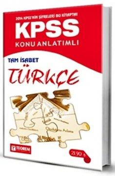 KPSS Tam İsabet Türkçe Konu Anlatımlı 2014