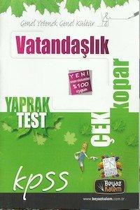 KPSS Vatandaşlık Çek Kopar Yaprak Test  2014