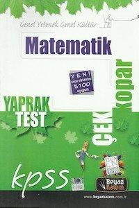 KPSS Matematik Çek Kopar Yaprak Test 2014