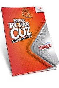 KPSS Türkçe Kopar Çöz Yaprak Test  2014