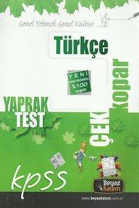 KPSS Türkçe Çek Kopar Yaprak Test  2014