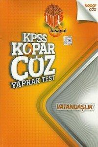 KPSS Vatandaşlık Kopar Çöz Yaprak Test 2014