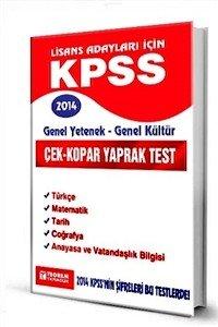 KPSS Genel Yetenek Genel Kültür Yaprak Test  2014