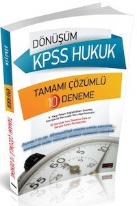 Dönüşüm KPSS Hukuk Tamamı Çözümlü 10 Deneme - 2014