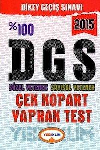 DGS Sözel Yetenek Sayısal Yetenek Yaprak Test Yediiklim Yayınları 2015
