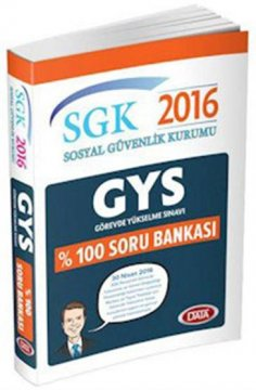 GYS SGK Sosyal Güvenlik Kurumu Soru Bankası 2016