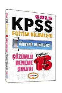 KPSS Eğitim Bilimleri Öğrenme Psikolojisi Çözümlü Popüler 15 Deneme 2015
