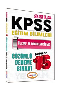 KPSS Eğitim Bilimleri Ölçme ve Değerlendirme Çözümlü Popüler 15 Deneme 2015